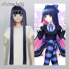 Cosplay Anime Wig Kostüme Perücke Panty and Stocking Stocking Fasching Voll lang