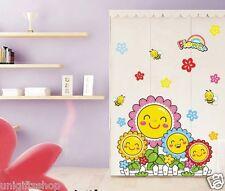 Set of 2 Sunflower Wall Decal Room Sticker Bedroom kids Room Nursery Room Decor