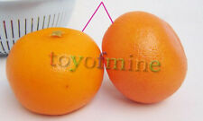 2 Pcs artificielle orange Grand - fruits oranges en plastique décorative Faux