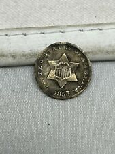1853 US Silver 3 Cent Piece #81
