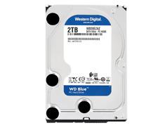 WD 2TB HDD 5400rpm 256MB 3.5'' Hard Disk Drive SATA III 6.0Gb/s Blue WD20EZAZ