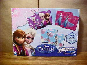 """""""DISNEY FROZEN"""" Memory Match Game by Cardinal - 72 Cards - V.G. Clean Condition"""