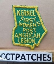 VINTAGE GEORGIA KERNEL FIRST WOMEN'S POST AMERICAN LEGION PATCH