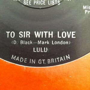 """Lulu - To Sir With Love UK 7"""" 1967 1st Pressing"""