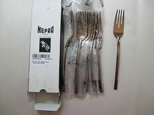 12pc NEW Mepra AZ10901121 Table Fish Fork Due Bronze Free Shipping