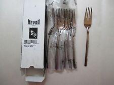 12pc NEW Mepra AZ10901121 Table Fish Fork Due Bronze Free Shipping
