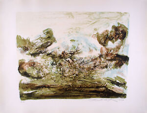 ZAO WOU-KI - Lithography Signed Numbered and dated 1968 - Composition #185