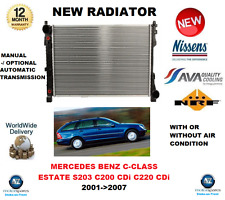 FOR MERCEDES BENZ C CLASS ESTATE S203 C200 CDi C220 CDi 2001->2007 NEW RADIATOR