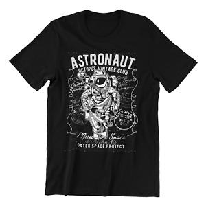 Space Astronaut Octopus, Rocket, Moon  T-Shirt Tee Top