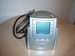 Timex T-309T Nature Sounds AM/FM Radio Alarm Clock 6 Presets Sleep Buzzer EUC