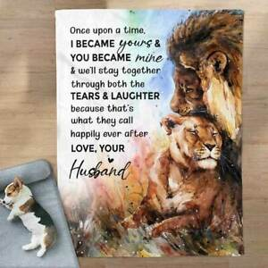 The Tears And Laughter - To My Wife - Lion, Fleece, Quilt Blanket USA