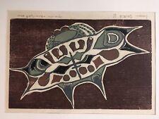 Tres belle gravure de Simone Gentile signé numéroté sur 10 1960 style aborigène