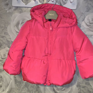 Girls Age 18-24 Months - Pink Gap Feather & Down Filled Winter Coat