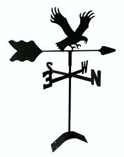 eagle weathervane black wrought iron look roof mount made in usa Tls1016Rm
