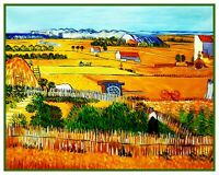 Vincent Van Gogh's The Harvest Counted Cross Stitch Chart Pattern