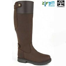 Ladies Country Boots Waxy LEATHER Brown Woodlands HARPER Zip Size 4 -10