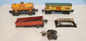 LIONEL PREWAR PARTS - FREIGHT CARS, TRUCKS, 88 RHEOSTAT, ETC...........TK..