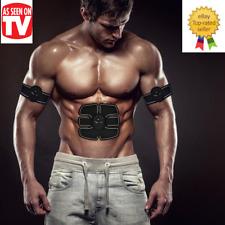 EMS Abdominal Muscle Training Stimulator Set Slimming Massager Exerciser AS#*