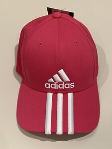 Adidas Women's Adjustable Cap Hat One Size Fits All Pink White