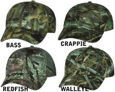 Fishouflage Camo Hat Cap, Bass Redfish Walleye Crappie Fishing