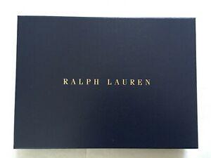 RALPH LAUREN NAVY GOLD GIFT / STORAGE BOX - NEW