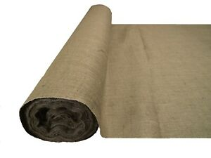 "Hessian Fabric Woven Natural Jute Burlap Garden Craft Sack Upholstery 40"" 54"" 72"