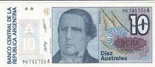 Billet banque ARGENTINE ARGENTINA 10 AUSTRALES NEUF NEW UNC