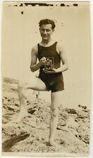 Photo Argentique Photographe Appareil Chambre Photographique Vers 1930
