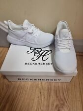 Ladies Beck & Hersey White Trainers Size 6 New In Box
