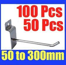 BULK Slatwall Hooks 50mm To 300mm Slat Wall Grooved Panel Hook 3.2MM