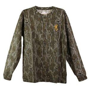 Browning 3017821903 Wasatch Mens LG Mossy Oak Bottomland Camo Hunting T-Shirt