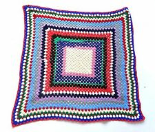 Vintage 70's / 80's Crochet Style Throw / Picnic Blanket Retro Festival 40""