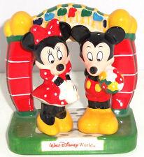 Disney Mickey Minnie Mouse Salt Pepper Shakers 3 Peice Set Theme Parks