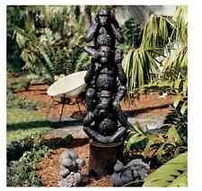 "47"" Statue of See No Evil Speak No Evil Hear No Evil 3 Monkeys Law Figurine Art"