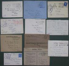 Inghilterra.Aviazione-Marina.11 buste con bolli censura