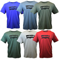 LEVI'S Men's T-shirt  Batwing Logo Vintage Distress  Look Tee Cotton XLARGE