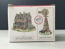 "Liberty Falls 2 Pc ""Aunt Alice's Quilt Shop"" & ""Farmer Wilson's Windmill"" AH126"