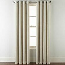 2 JC Penney Sullivan Blackout Grommet Beachcomber Beige Curtain Panels 50 x 95