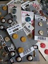 Vintage Buttons On Original Card 60s to 90s period
