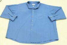21.5-22 Van Heusen Blue Dress Shirt Cotton Polyester Long Sleeve Man's Men's 6XL