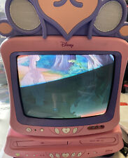 "Disney Princess Princess 13"" Retro Gaming TV DVD VCR Combo Remote Pink EUC"