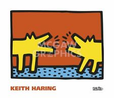 Untitled, 1989 (dogs) by Keith Haring Art Print Dog Bark Animal Poster 24x28