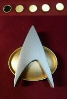 Star Trek The Next Generation Combadge Communicator Pin Badge + 8x4 mm Rank Pips