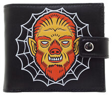 Kustom Kreeps Creepy Wolf Spiderweb Mens Black Wallet by Sourpuss