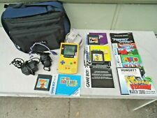 Nintendo Gameboy Color Pikachu Pokemon Edition with Video Games and Accessories