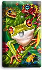 CUTE EXOTIC RAINFOREST TROPICAL TREE FROGS PHONE JACK TELEPHONE WALL PLATE COVER
