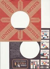 United Artists Records- 2 Original 1950's/60's 45 Record Company Sleeves