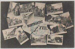 Ak Geschichte 12 Ansichten Montmartre  um 1900