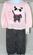 """NWT JUST ONE YOU BY CARTERS 2 PIECE """"PANDA BEAR"""" PAJAMAS SIZE 2T"""