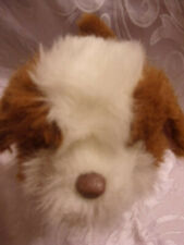"""Fur Real Friends Brown White Puppy Dog 10"""" Interactive Realistic FRF Toy"""